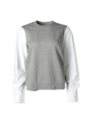 Derek Lam 10 Crosby - Milton Mix Media Sweatshirt