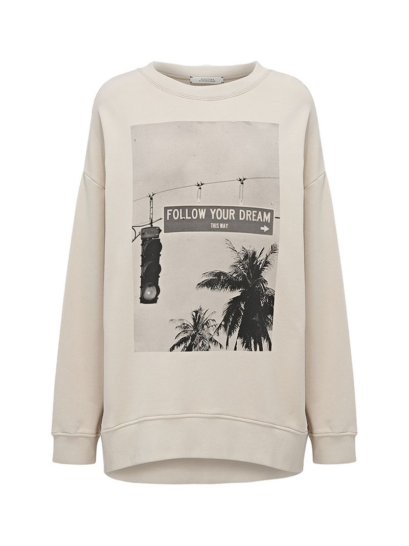 Dorothee Schumacher Casual Coolness Sweater - Follow Your Dreams Print