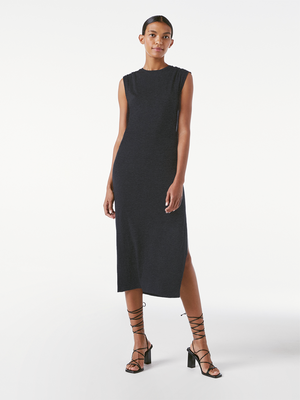 Frame Le Muscle Maxi Dress - Charcoal Heather