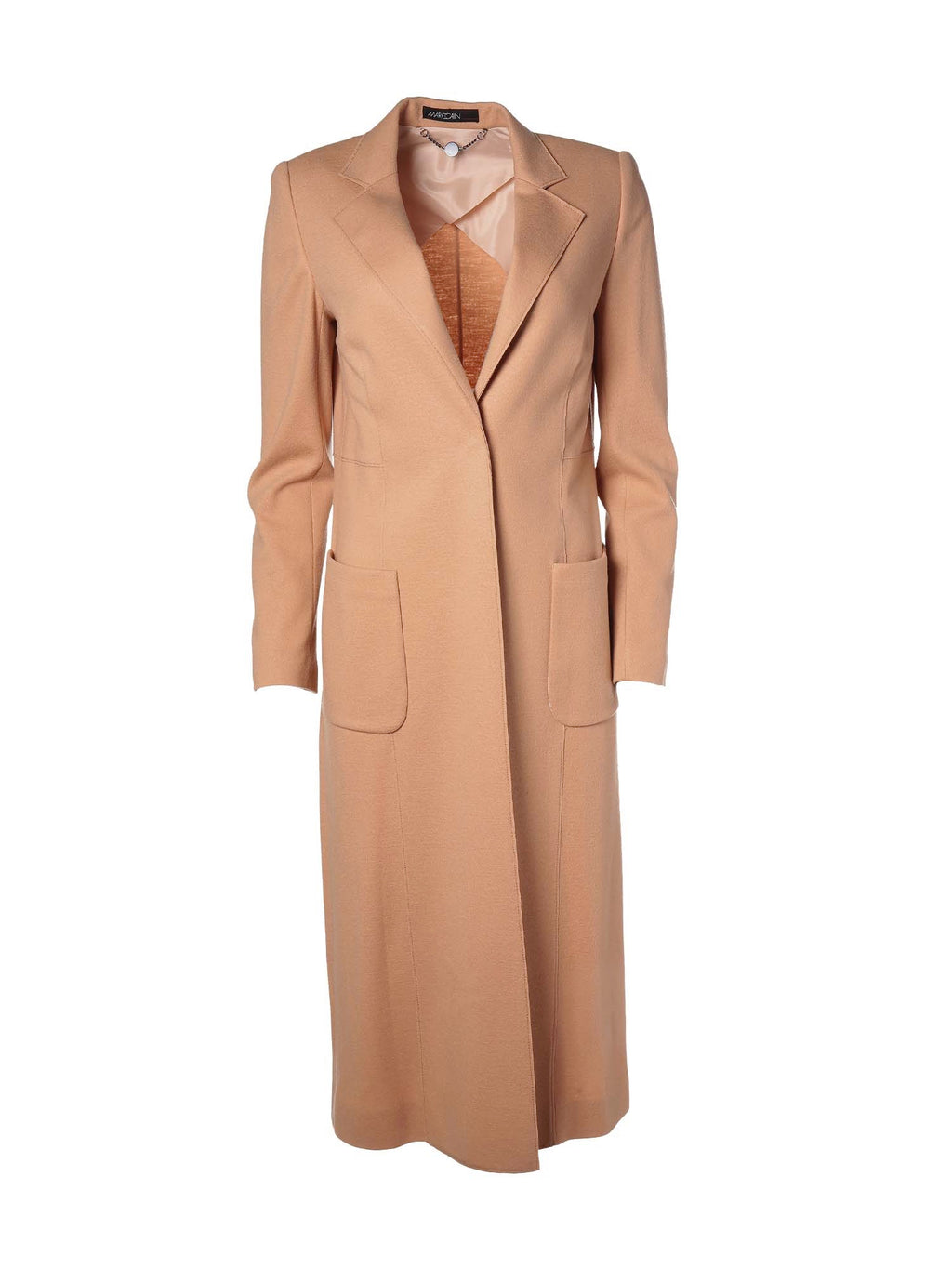 Marc Cain Coat in Wool Jersey - Caramel