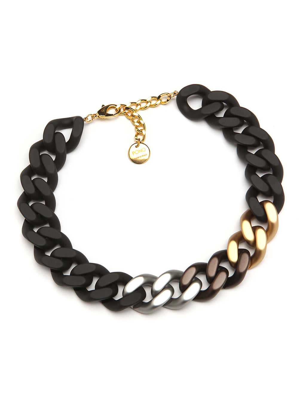 PONO Colette Noire Resin Necklace Matte Black