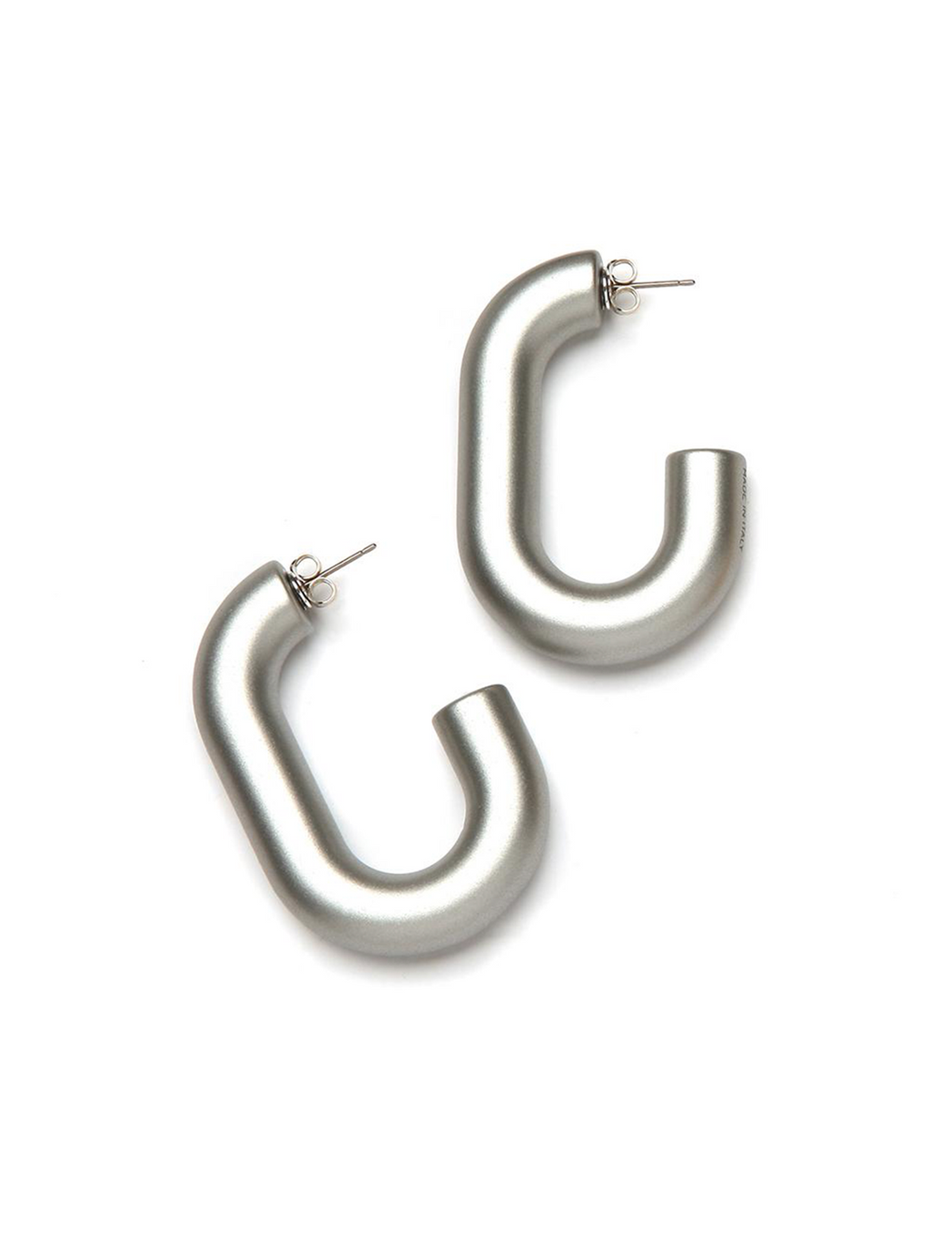 PONO Margo Barile Resin Earring, Silver