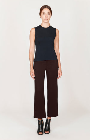 Mi Jong Lee Stretch Base Flat Front Straight Leg Pant - Basics