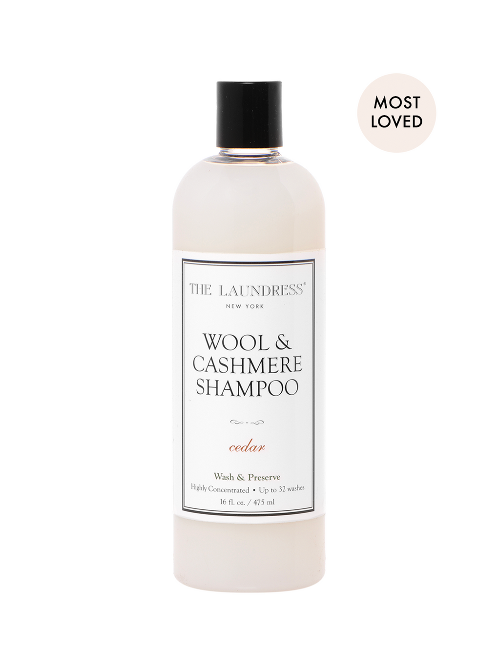 The Laundress Wool & Cashmere Shampoo Cedar 16 fl oz