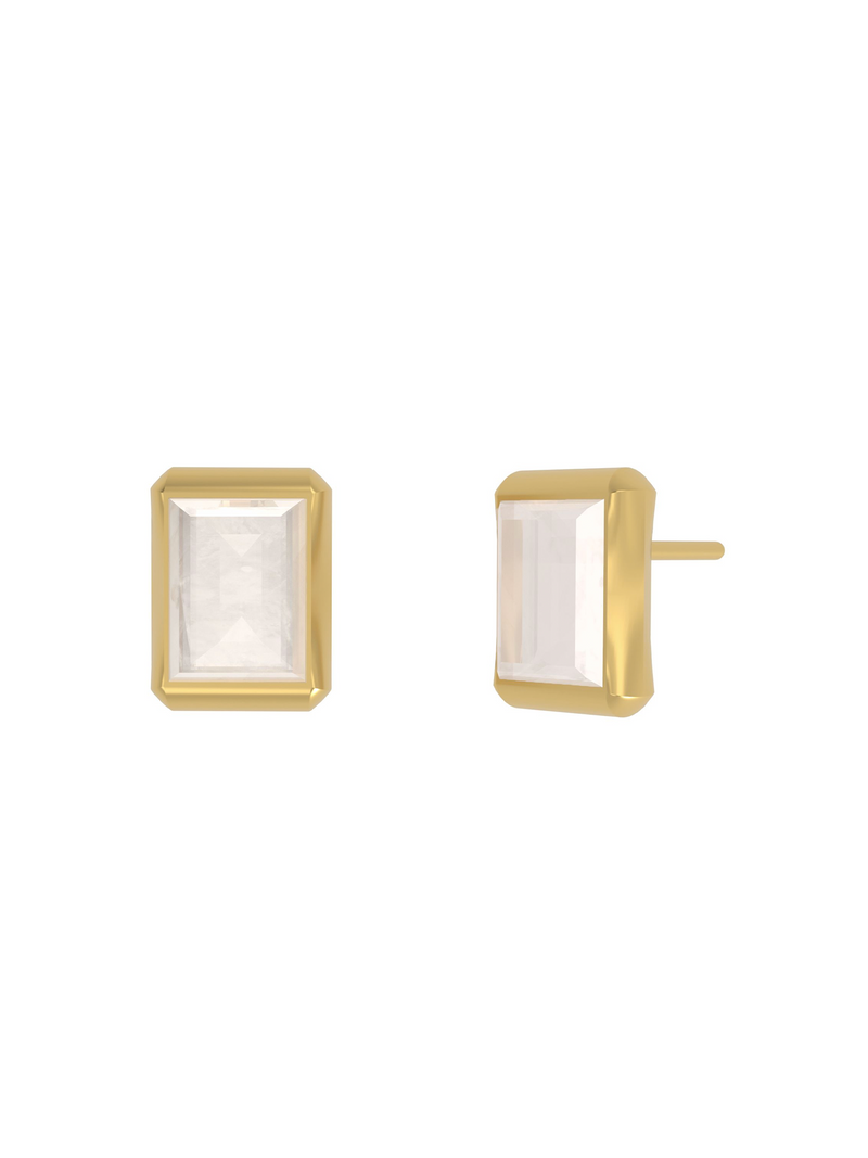Dean Davidson Baguette Gemstone Stud Earrings - Moonstone- Pre-Order
