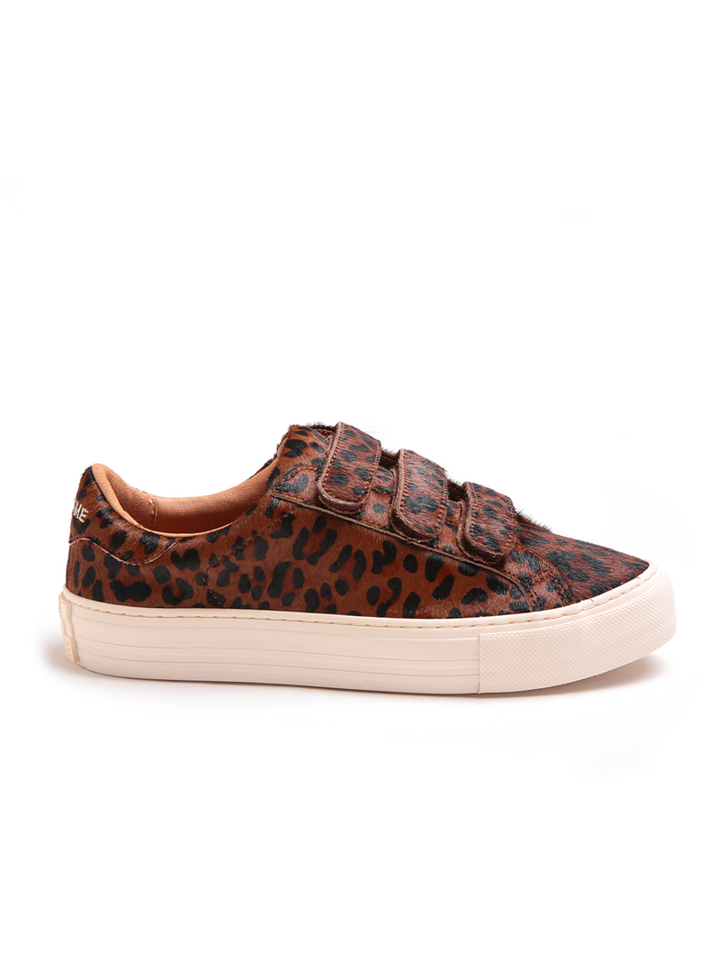 No Name Arcade Straps Sneaker Pony Hair Leopard
