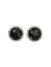 Margo Morrison Faceted Black Spinel and Diamond Studs