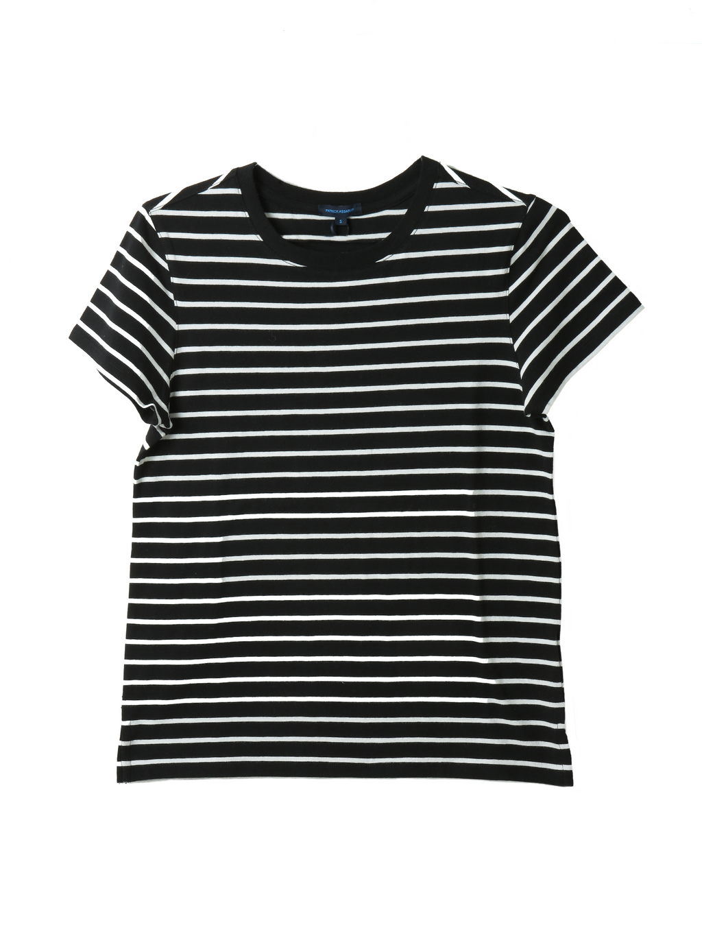 Patrick Assaraf Lightweight Pima Cotton Stripe Classic T-shirt