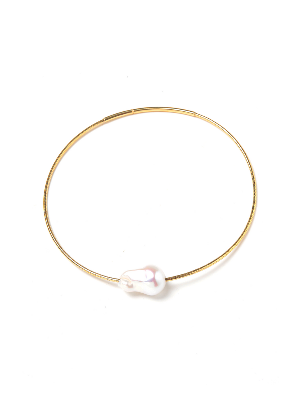 Margo Morrison Single Baroque Pearl Collar Necklace