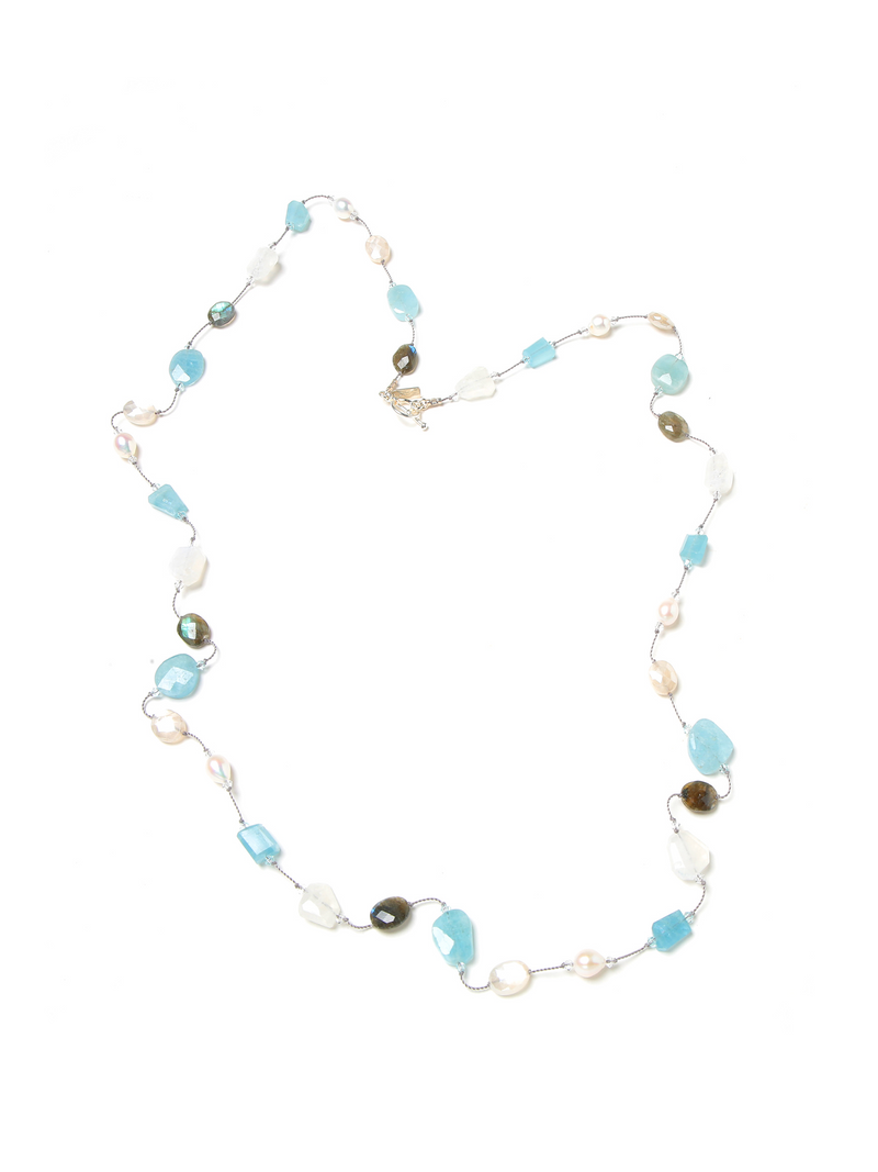 Margo Morrison Labradorite, Aquamarine, Moonstone and Pearl 35