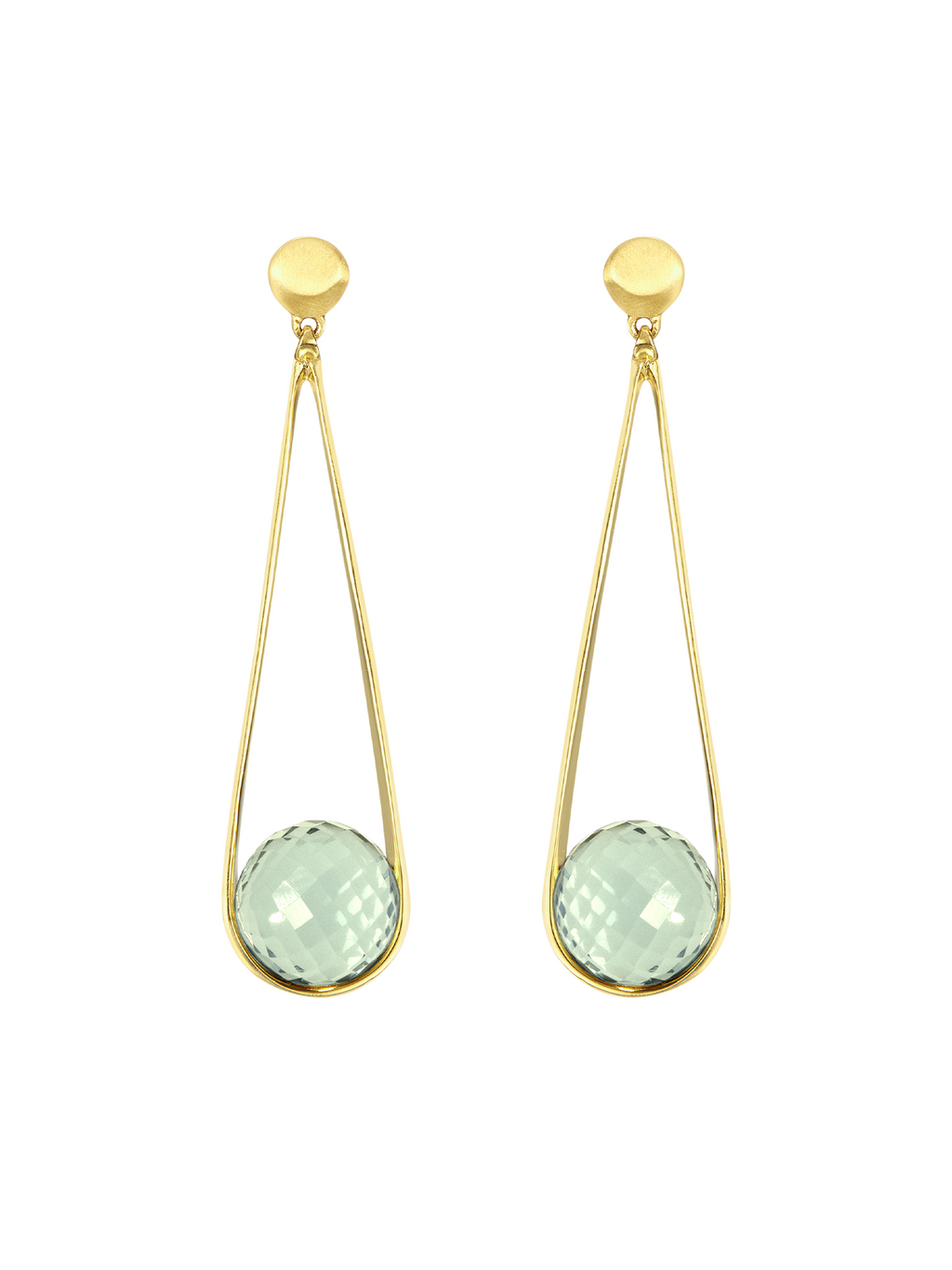 Dean Davidson Ipanema Earrings - Green Amethyst/Gold