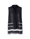 Marc Cain Loose Chiffon Striped Top