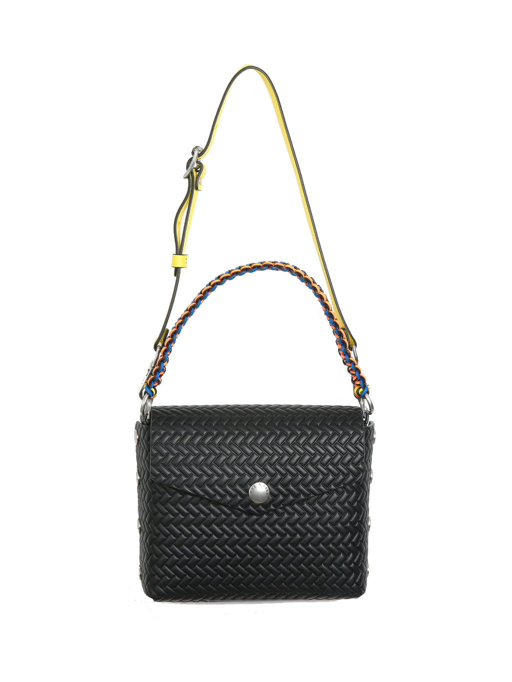 Rag & Bone Atlas Black Embossed Shoulder Bag