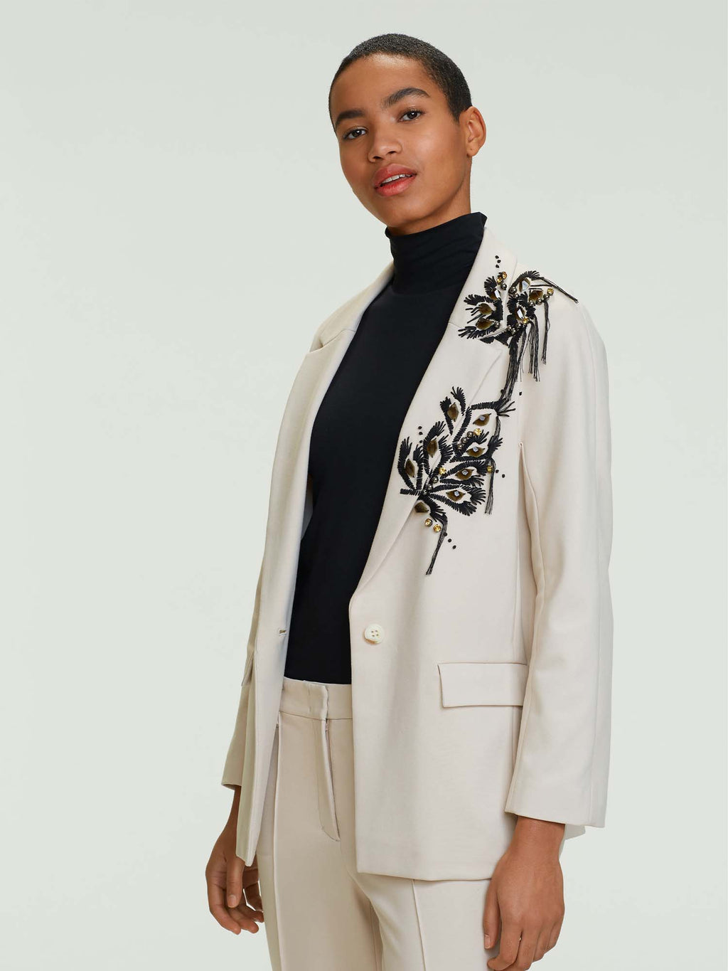 Dorothee Schumacher Emotional Essence Jacket with Embroidery Details