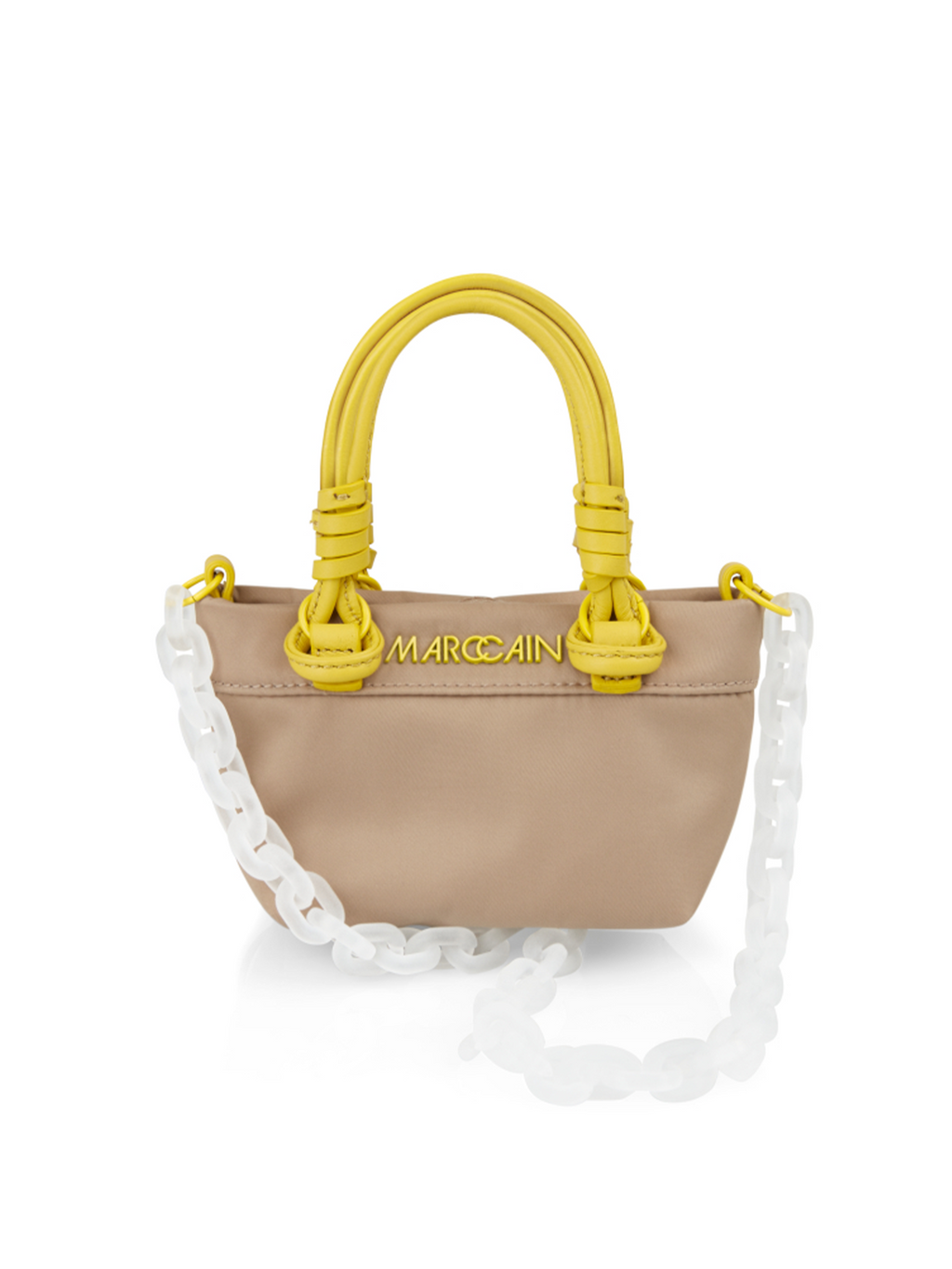 Marc Cain Mini Bag with Decorative Chain - Kangaroo