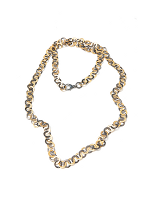 "Margo Morrison Gold & Silver 36"" Flat Link Chain Necklace"