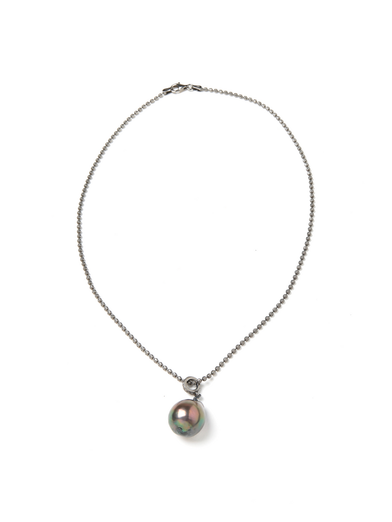 Margo Morrison Baroque Pearl and Diamond Pendant 18