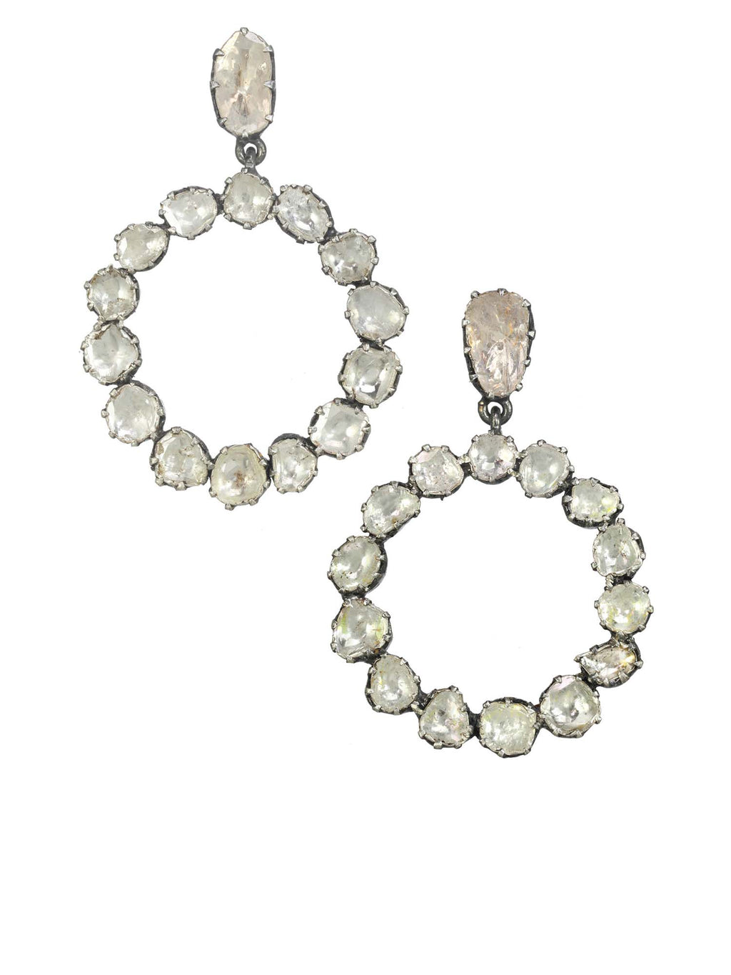 Margo Morrison Raw Diamond Round Earrings