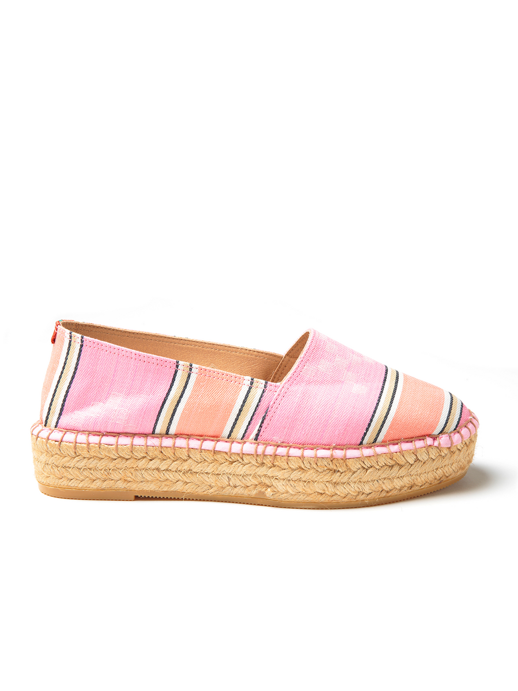 Penelope Chilvers Riviera Espadrille Flatforms - Carnival Stripe