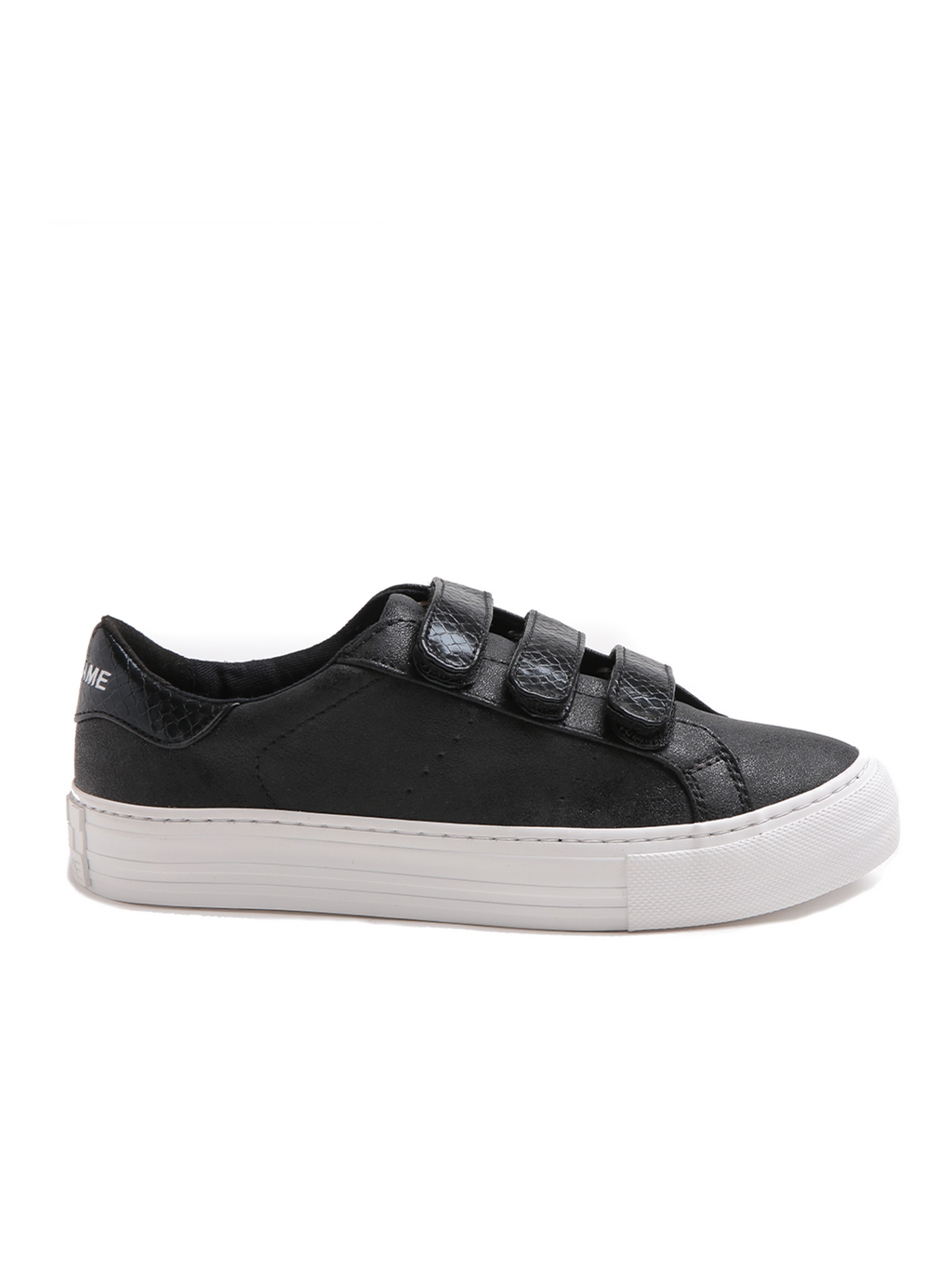 No Name Arcade Strap Shoes - Reptile Black on Black
