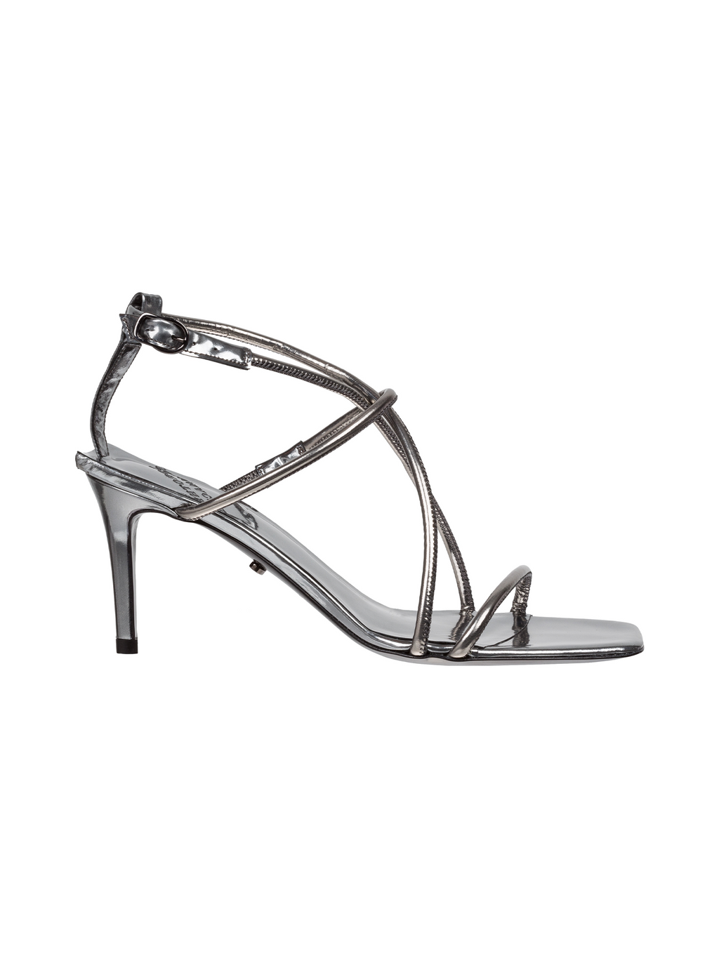 Dorothee Schumacher Power Statement Strappy Stiletto - Gunmetal