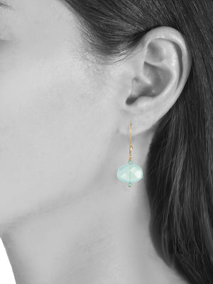 Margo Morrison Faceted Peruvian Chalcedony Drop Earrings