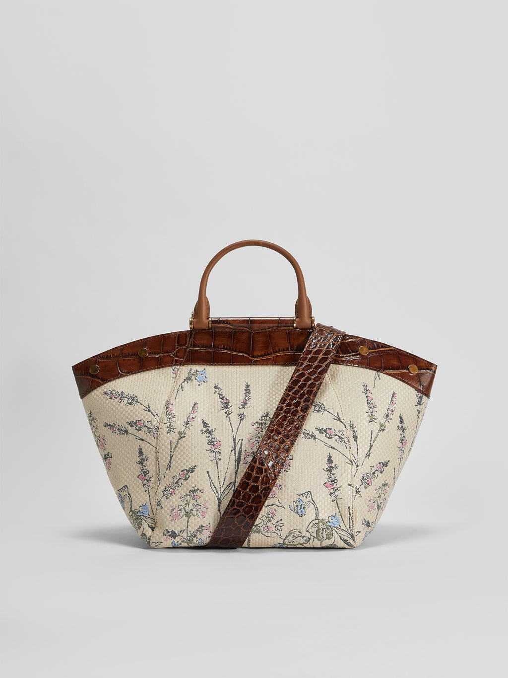 Max Mara Anita M4 Tote Bag in Jacquard & Leather