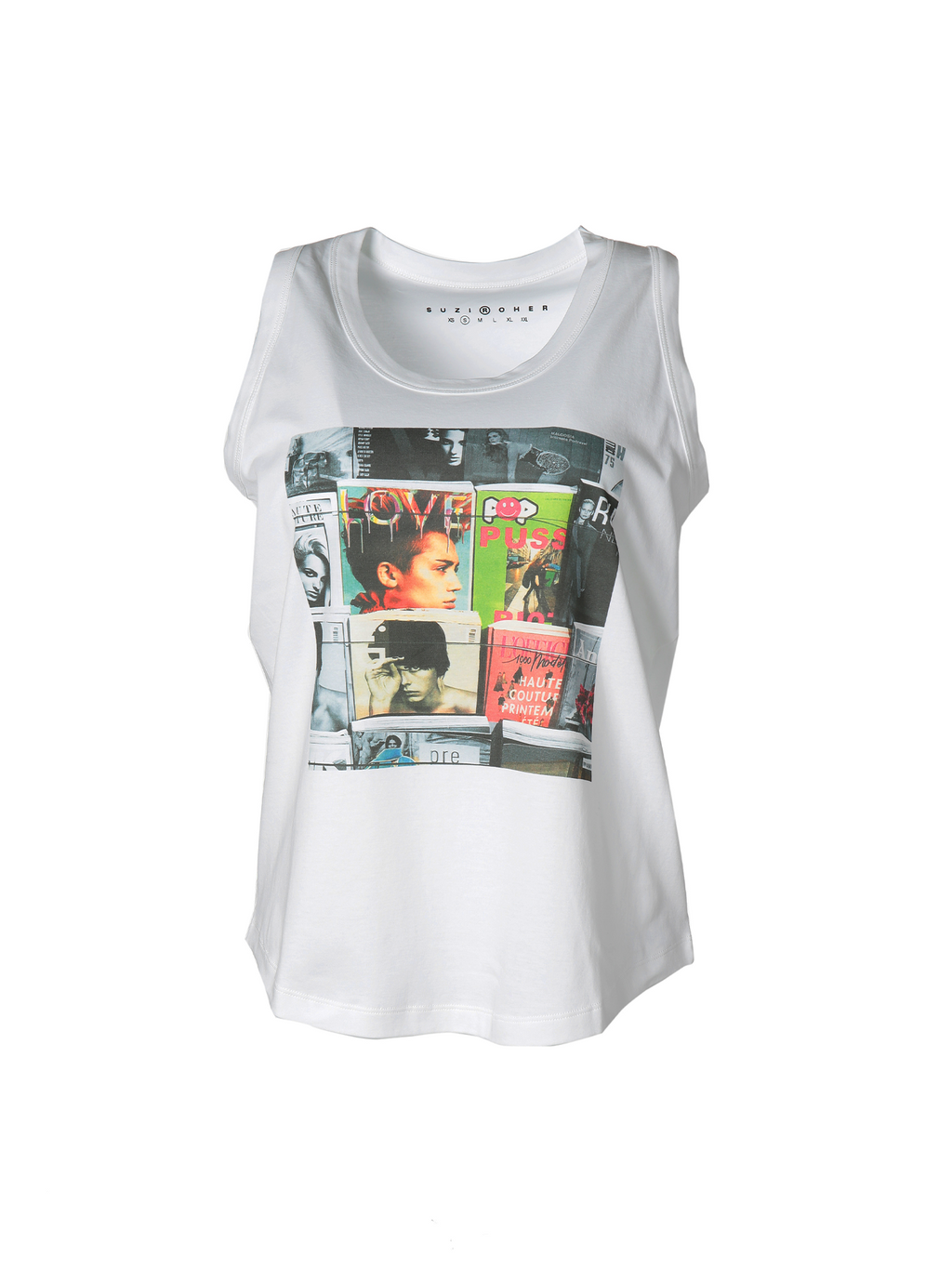 Suzi Roher Lola Graphic Tank Top - Magazine Rack