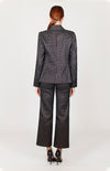 Mi Jong Lee Square Jacquard Jacket w/ Center Front Button - Capsule 2