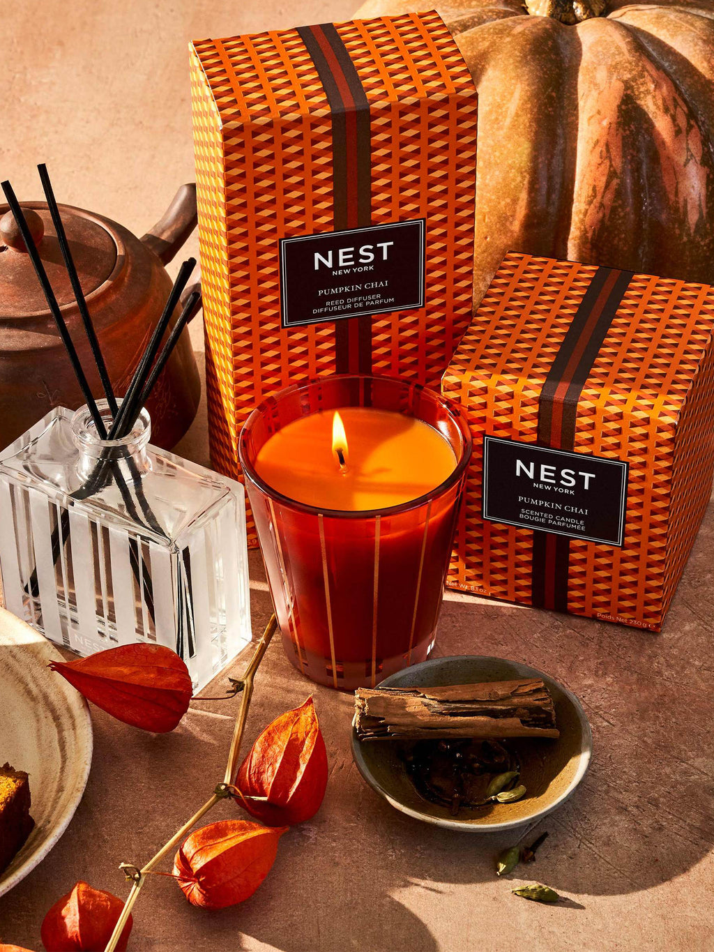NEST Fragrances Reed Diffuser, Pumpkin Chai