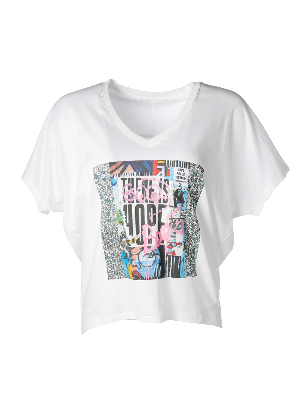 Suzi Roher Velvet Graphic T-shirt- There Is Hope