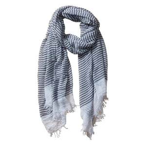 Tiny Stripe Insect Shield Scarf - Black