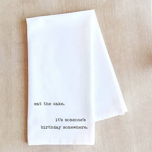 Eat The Cake - Tea Towel