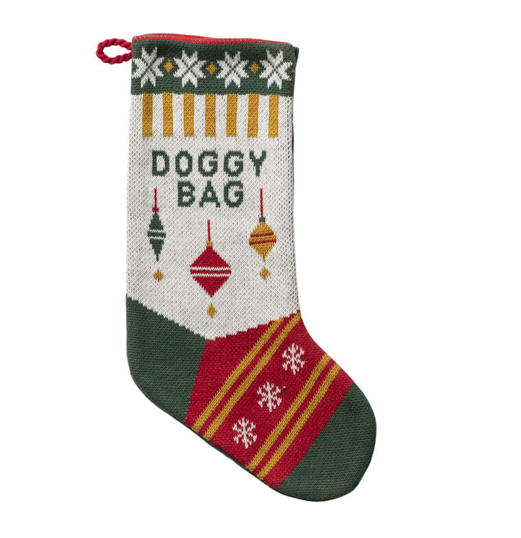 Doggy Bag Knit Stocking