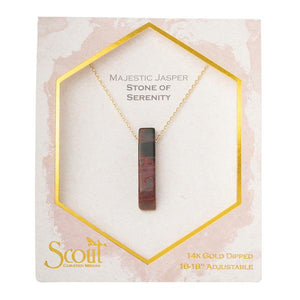 Majestic Jasper Point Necklace - Stone of Serenity