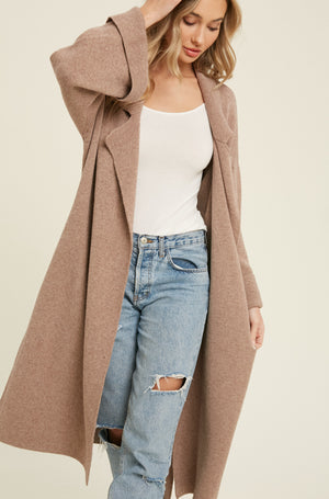 Effortless Knitted Trench Coat