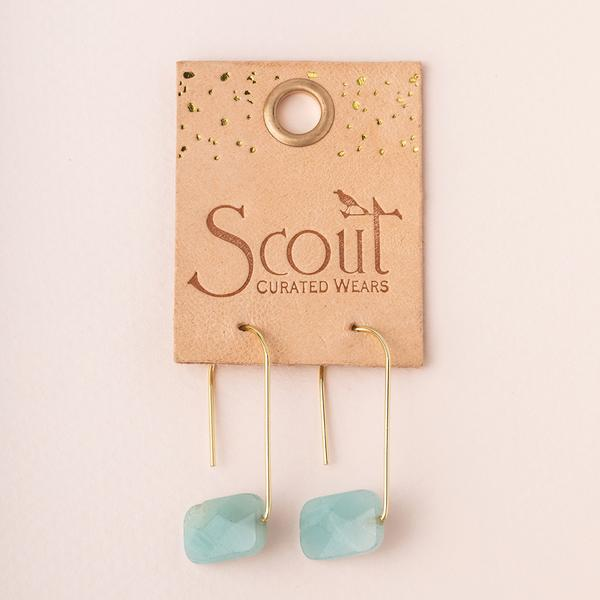 Amazonite Floating Stone Earrings