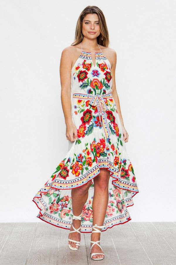 FLYING TOMATO/ ACALIN BY FLYING TOMATO - PIECE PRINT DRESS