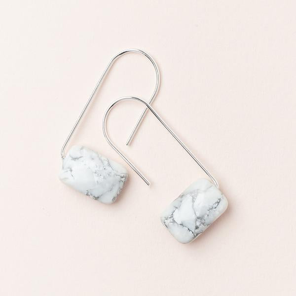 Howlite Floating Stone Earrings