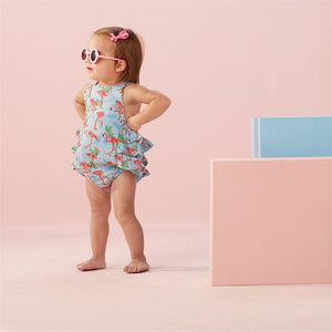 Flamingo Ruffle Sunsuit