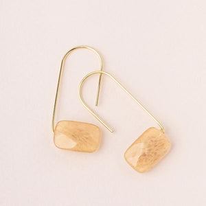 Citrine Floating Stone Earrings
