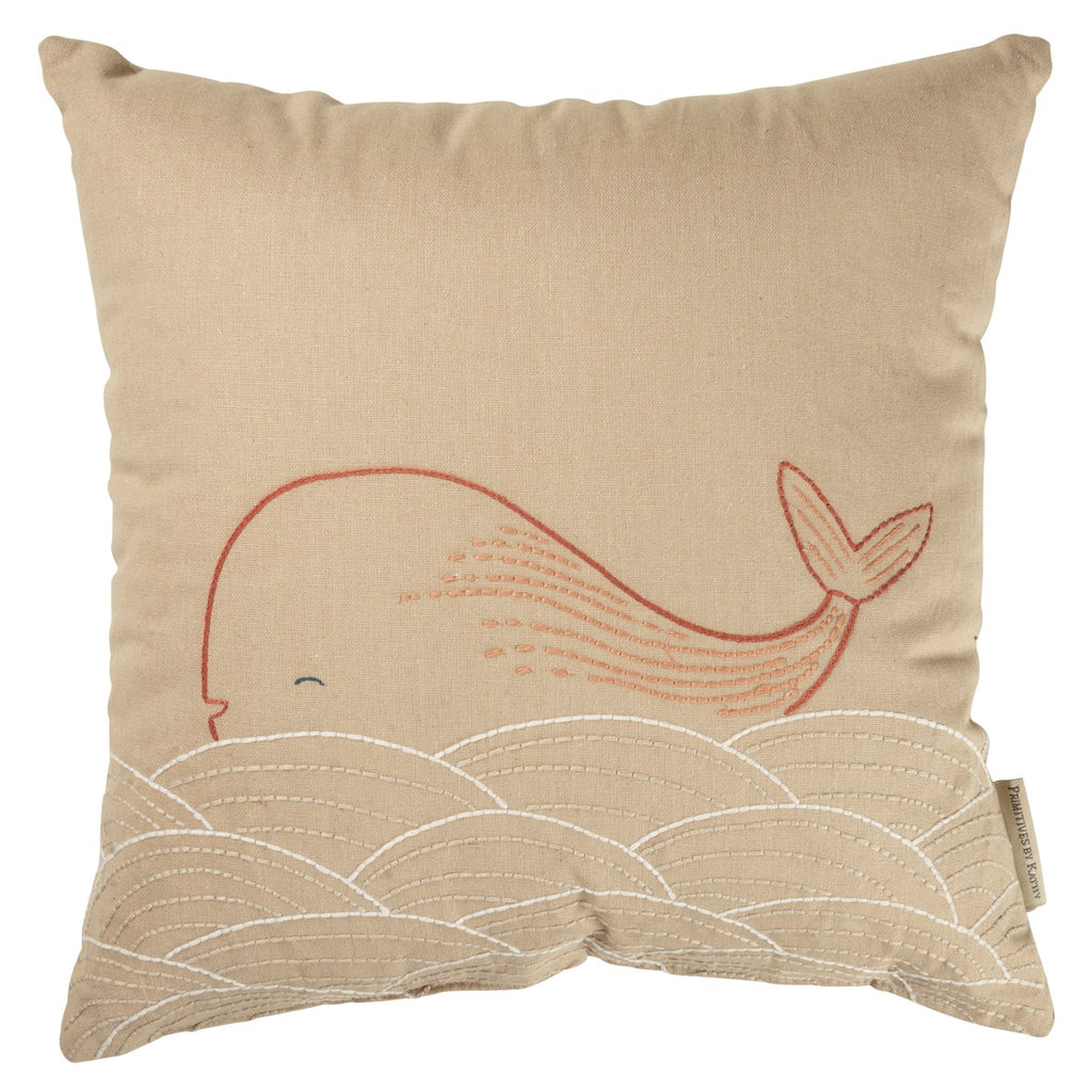 Pink Whale Pillow