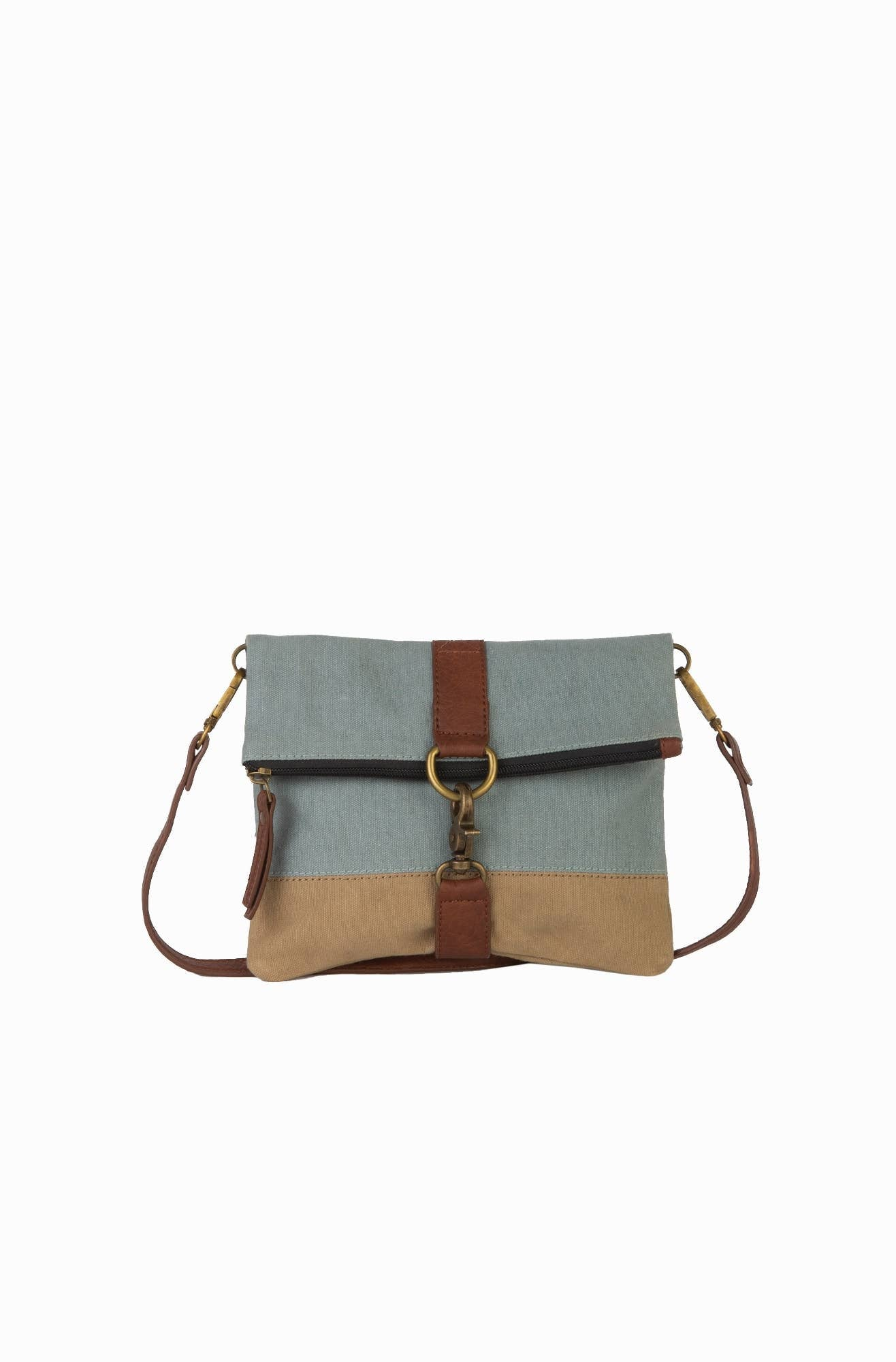 Mona B. - Finley Up-Cycled Canvas Fold-Over Convertible Cross-body