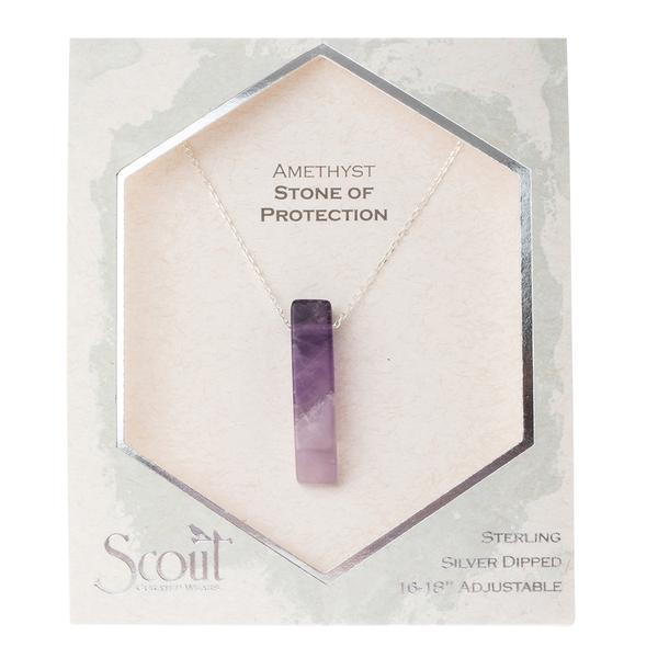 Amethyst Point Necklace - Stone of protection