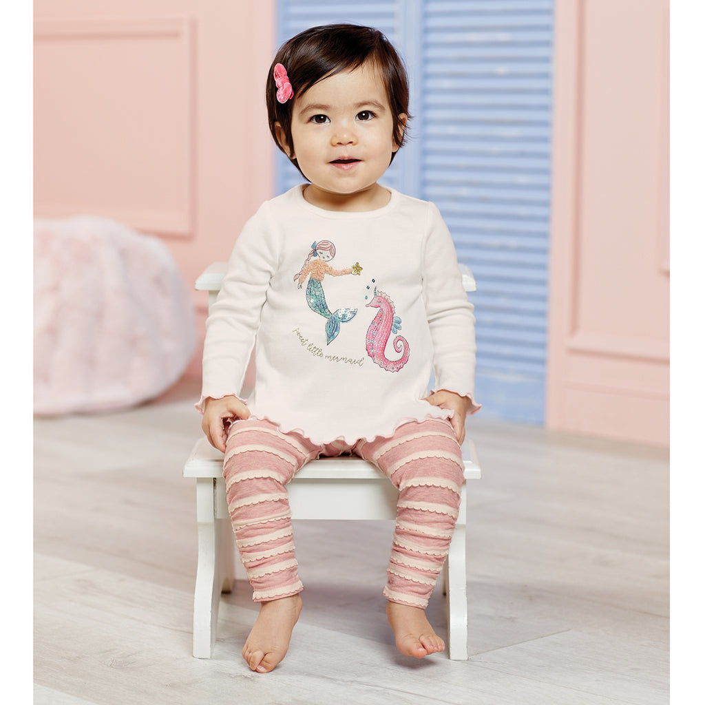 Sweet Little Mermaid Infant Tunic & Legging Set