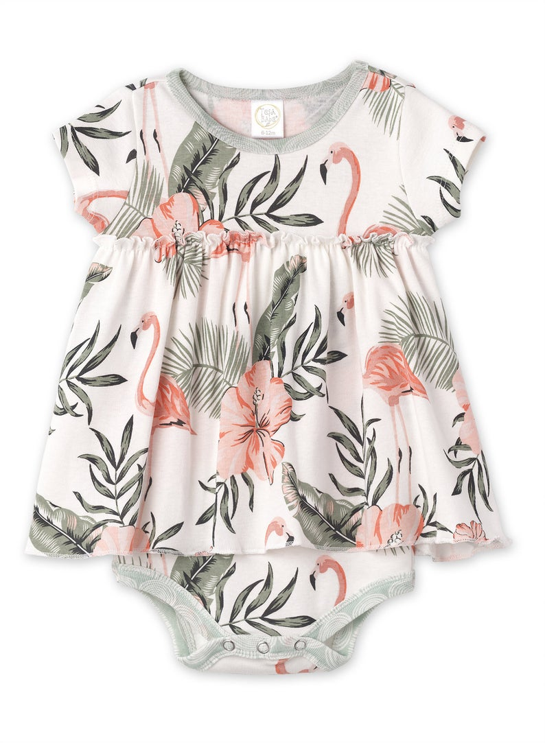 Flamingo Skirted Bodysuit