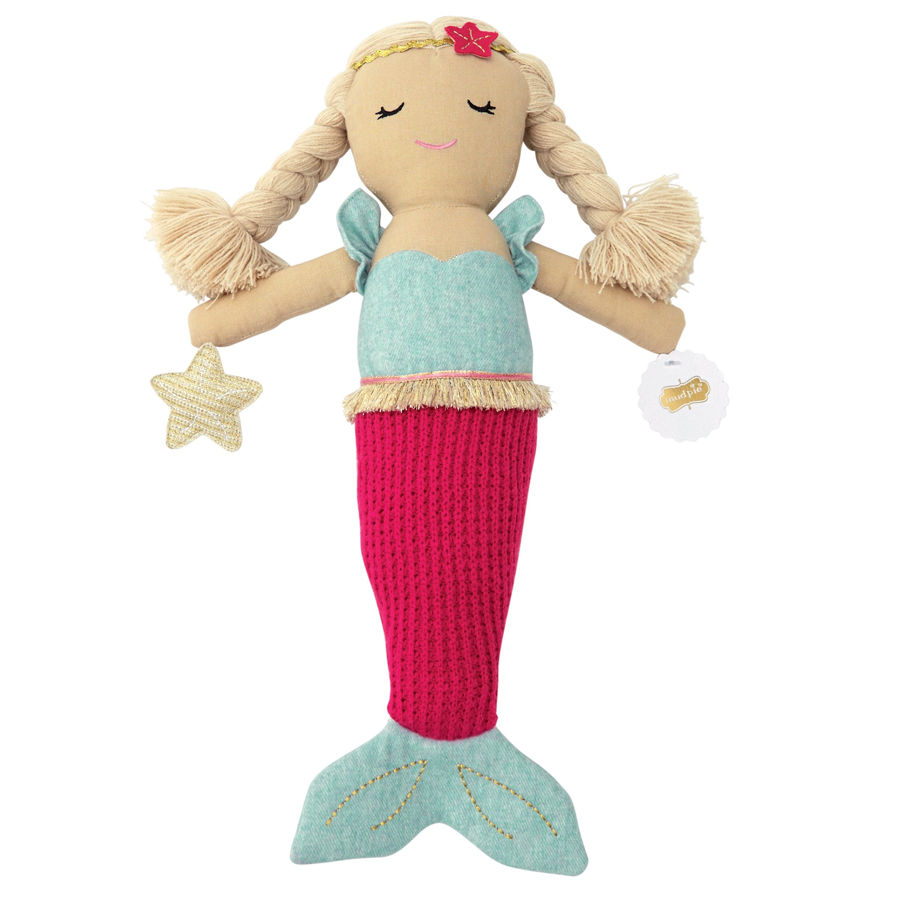 Plush Linen Mermaid Doll