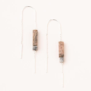 Rectangle Rhondonite (Healing) Stone Earrings