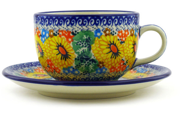 Cup with saucer
