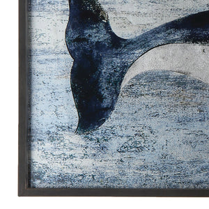 Blue Whale Picture - Wood Wall Décor